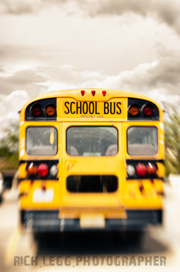 School Bus Lensbaby Sample