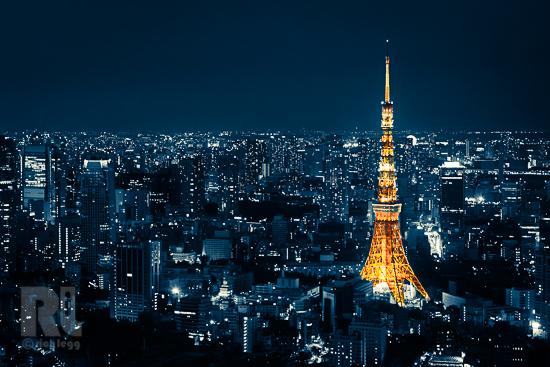 Tokyo Tower Blue-1