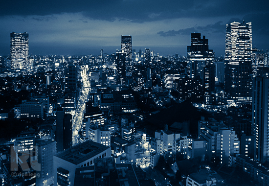 Tokyo from Tower Blue-1